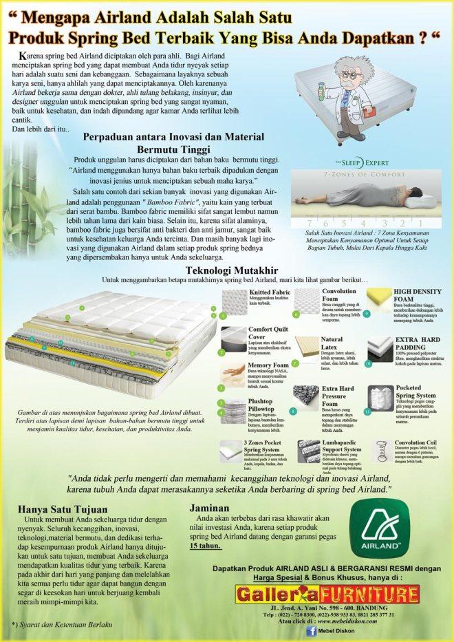 Airland Spring Bed - Harga Murah