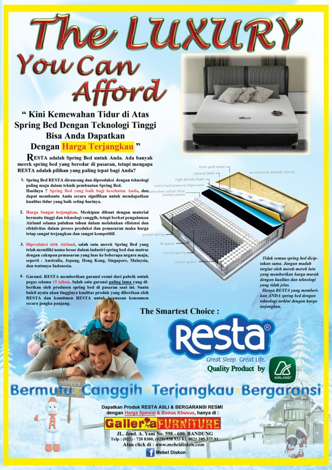 Special Offer - Kasur Spring Bed Resta