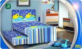Tempat Tidur Anak 2in1 lucu bagus murah