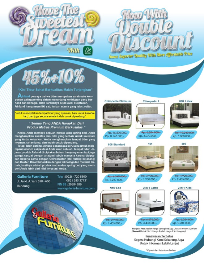 Airland Spring Bed-Promo Oktober 2012