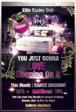 harga kasur Springbed Elite-Galleria Furniture Bandung