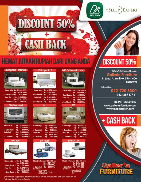 Airland Spring Bed Diskon 50%-harga Januari 2013