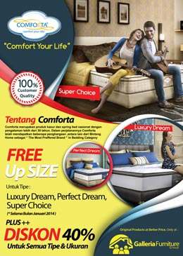 Comforta Spring Bed-Galleria Furniture Bandung
