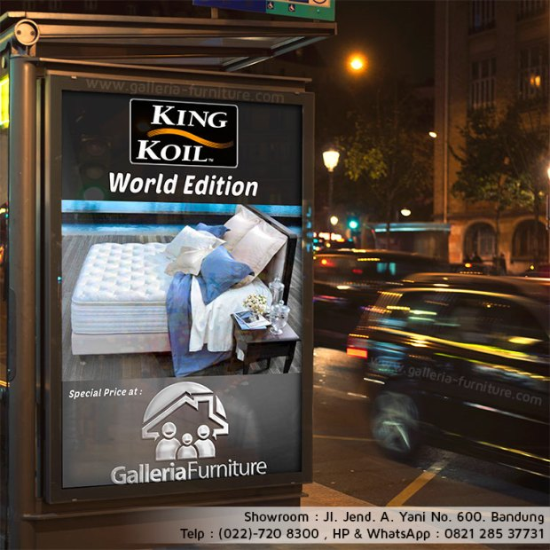 Harga Kasur Spring Bed King Koil World Edition