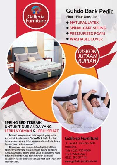 Guhdo Back Pedic- Harga Spring Bed Murah