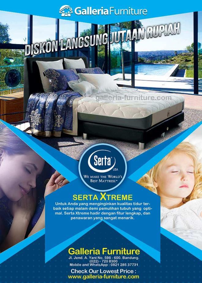 Harga Kasur Spring Bed SERTA Xtreme - Gambar, Review