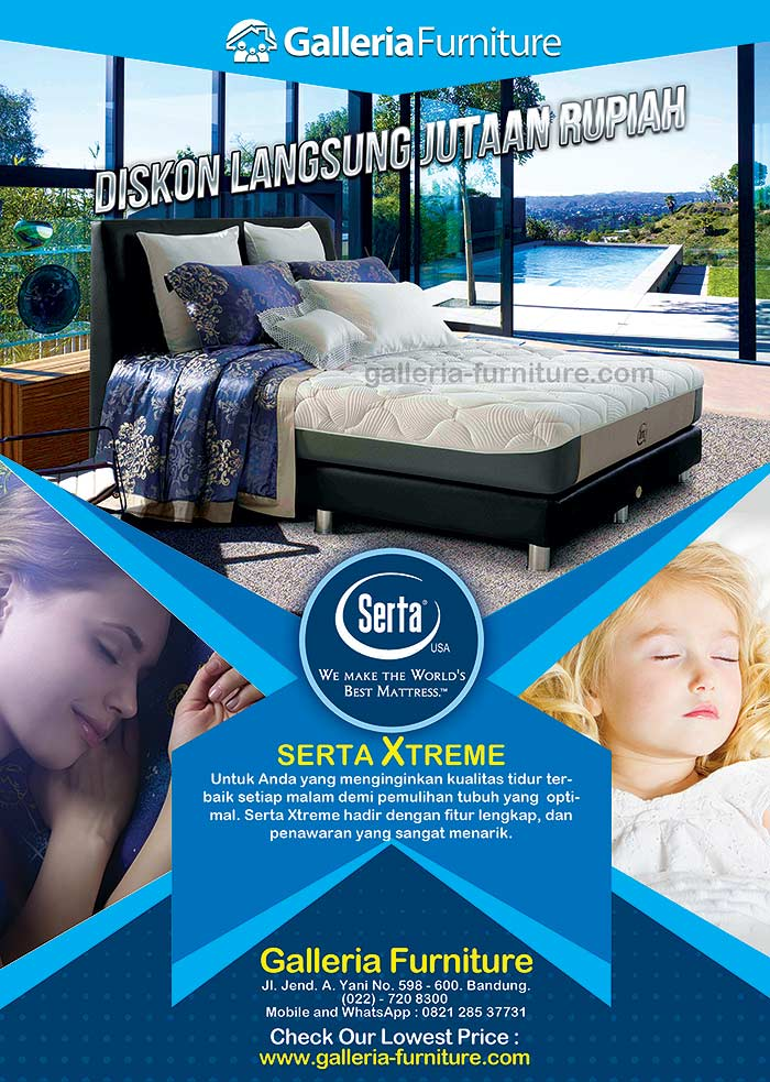 Spring Bed SERTA Xtreme – Review + Harga PromoDiskon