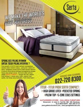 Kasur Spring Bed SERTA Compact Bagus Murah