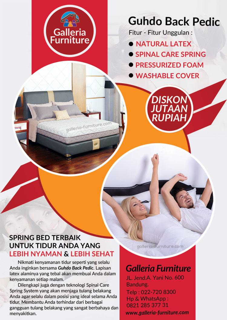 Harga Kasur Spring Bed Guhdo Back pedic