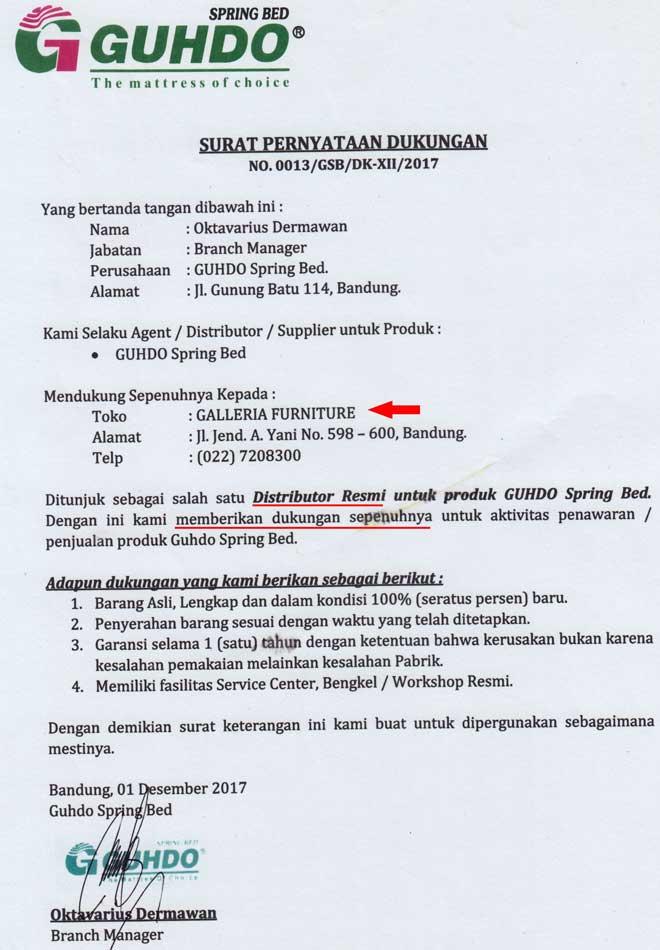 Distributor Springbed Guhdo Bandung Asli